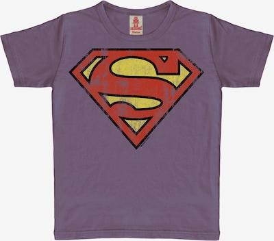 LOGOSHIRT T-Shirt 'Superman Logo' in lila, Produktansicht