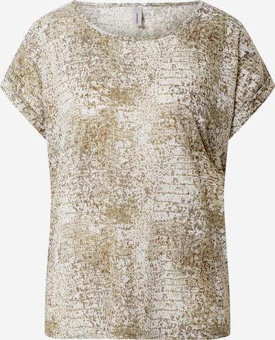 Soyaconcept Koszulka 'PANIK' w kolorze beżowy / brokatm: Widok z przodu