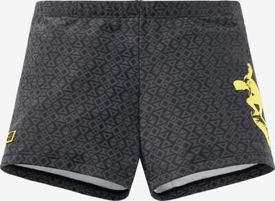 SCHIESSER Badehose in gelb / grau / schwarz, Produktansicht