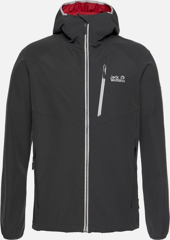 JACK WOLFSKIN Softshelljacke 'Kanuka Point' in anthrazit, Produktansicht