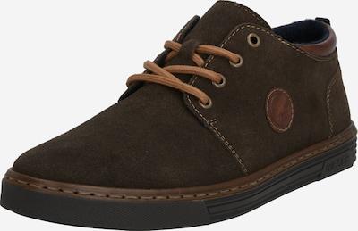 barna / sötétszürke RIEKER Fűzős cipő: Elölnézet