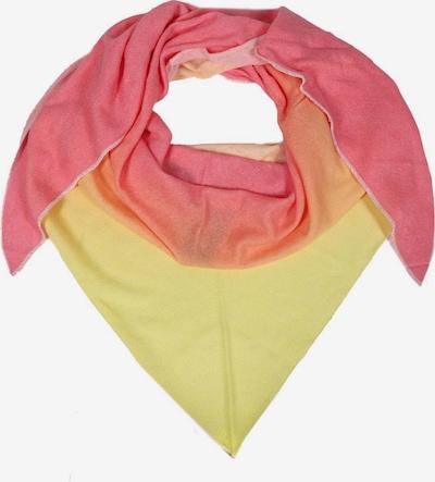 Zwillingsherz Schal in gelb / orange / pink, Produktansicht