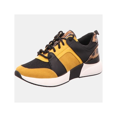 Edel Fashion Sneakers in braun / gelb / schwarz, Produktansicht