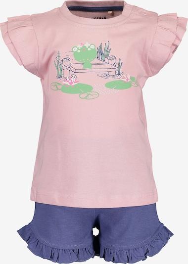 BLUE SEVEN Set T-Shirt+Shorts in lila / rosa, Produktansicht