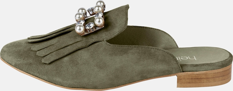 heine Sabot mit Schmucksteinen Günstige und langlebige Schuhe