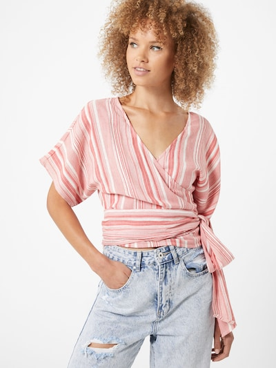 BILLABONG Bluse 'Local Shores' in pink / weiß, Modelansicht