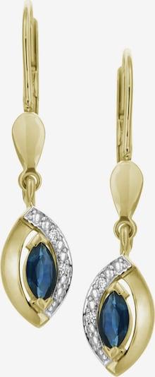 VIVANCE Ohrringe 'Safir' in saphir / gold, Produktansicht