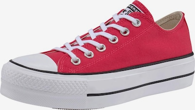 CONVERSE Sneaker in rot / weiß: Frontalansicht