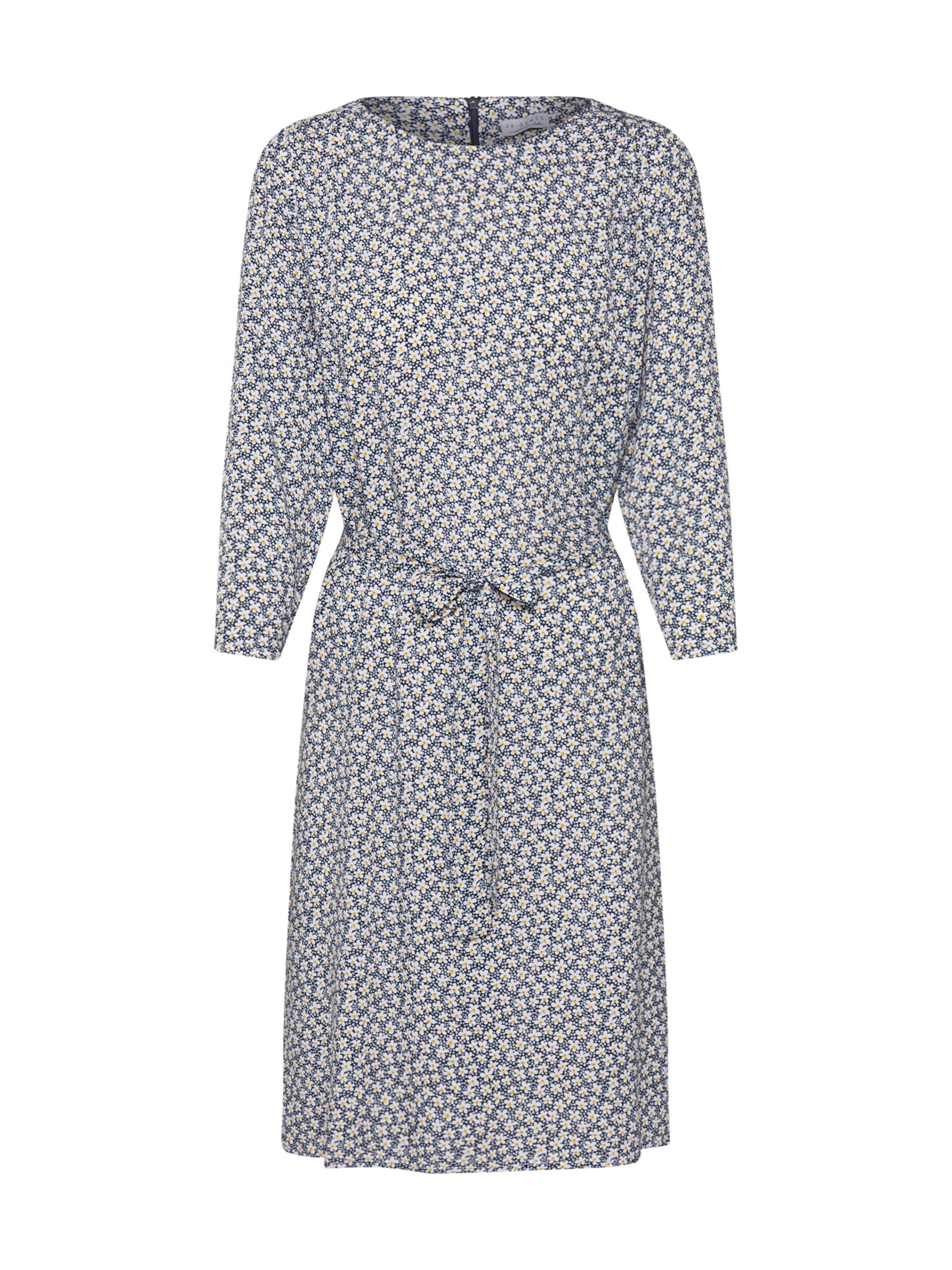Robe En Blanc 'millefleur' draft Re BleuJaune iTZOXkPu