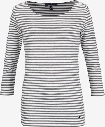 DANIEL HECHTER Shirt in graumeliert / weiß, Produktansicht