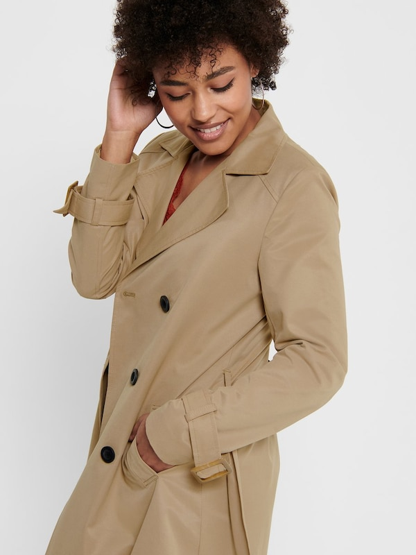 ONLY Trenchcoat in beige: Frontalansicht