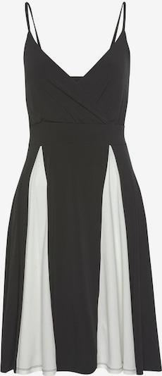 LASCANA Kleid in schwarz / weiß: Frontalansicht