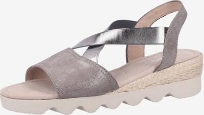GABOR Sandalen in taupe / silber, Produktansicht