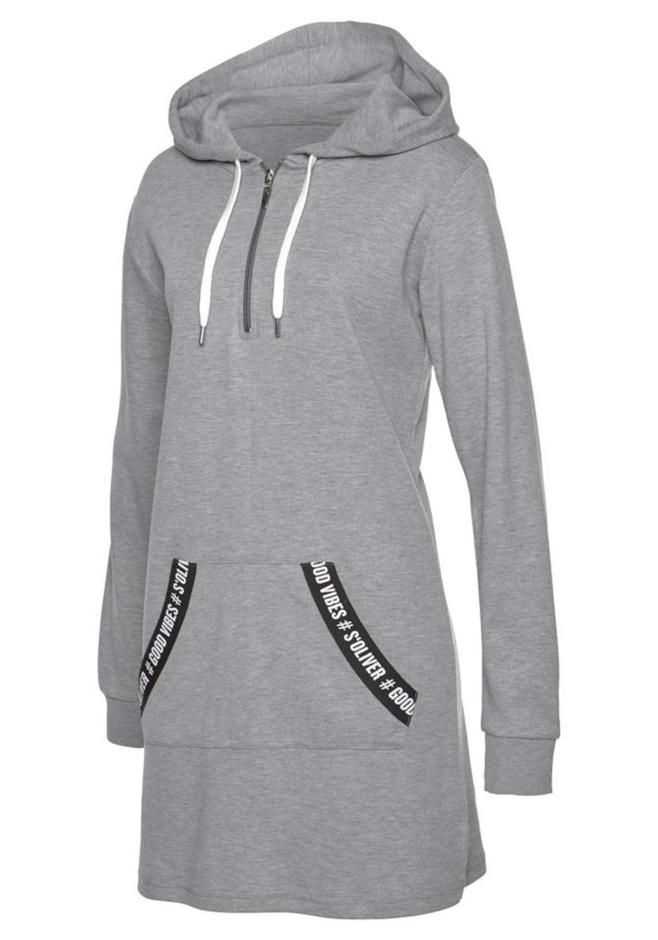 Sweatkleid In oliver S Bodywear Graumeliert 45jc3LARq