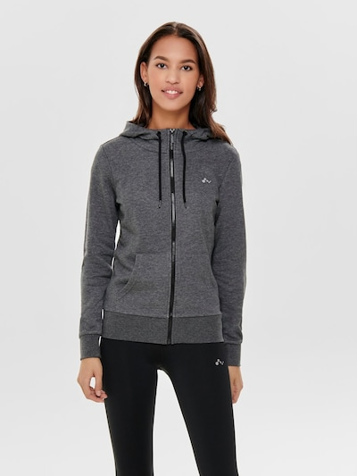 ONLY PLAY Sweatjacke in graumeliert: Frontalansicht