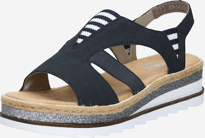 RIEKER Sandale in beige / navy / weiß, Produktansicht