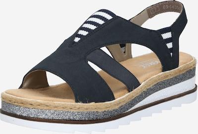 RIEKER Sandal i marinblå / vit, Produktvy