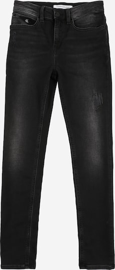 Calvin Klein Jeans Mädchen - Jeans 'SKINNY HR - ATHLETIC BLCK DS STR' in black denim, Produktansicht