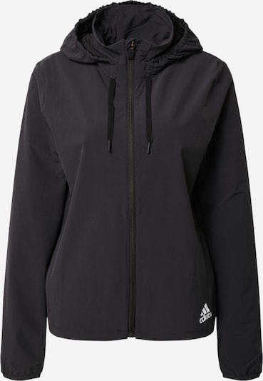 ADIDAS PERFORMANCE Sportjacke 'LW Woven' in schwarz: Frontalansicht