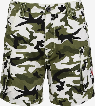 Karl Kani Shorts 'OG Cam' in grün / weiß, Produktansicht