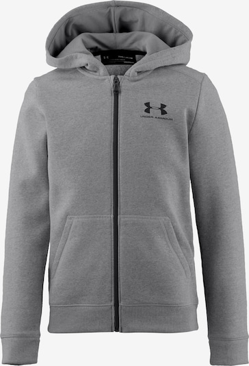 UNDER ARMOUR Sweatjacke in graumeliert / schwarz, Produktansicht