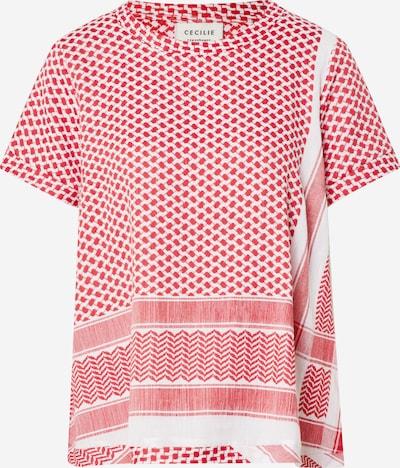 Marškinėliai ' O SS' iš Cecilie Copenhagen , spalva - raudona / balta, Prekių apžvalga
