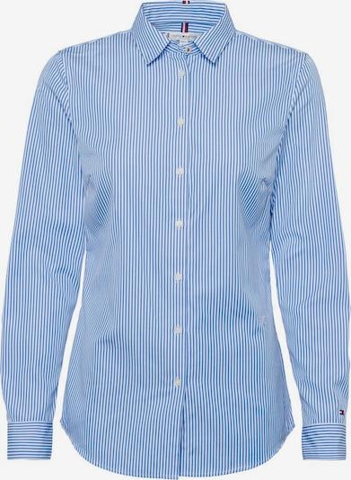 TOMMY HILFIGER Blouse in de kleur Blauw / Wit, Productweergave