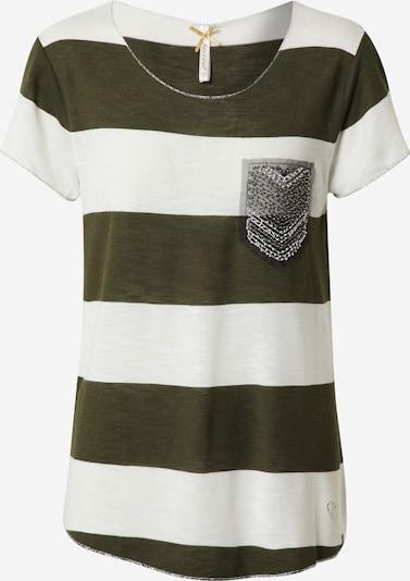 Key Largo Shirt 'JANA' in khaki / offwhite, Produktansicht