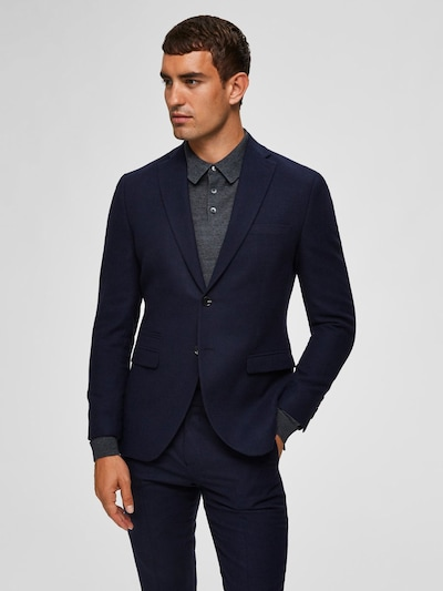 SELECTED HOMME Blazer Slim Fit in dunkelblau: Frontalansicht