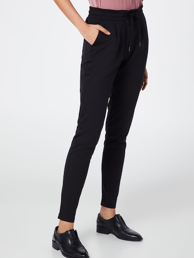 ICHI Trousers in Black, View model