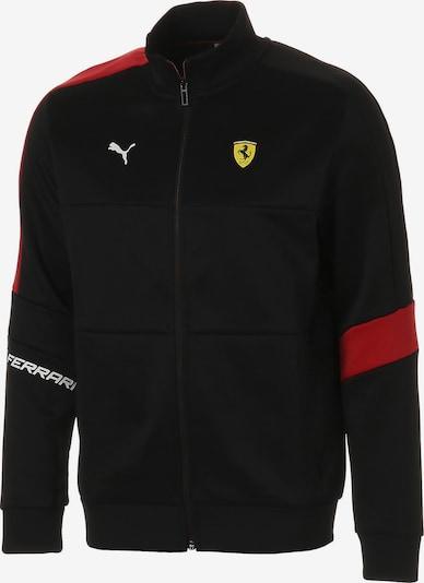 PUMA Sportsweatvest 'Ferrari T7' in de kleur Rood / Zwart: Vooraanzicht