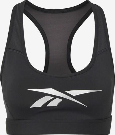 REEBOK Sport-BH in schwarz / weiß, Produktansicht