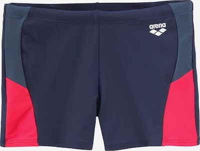ARENA Athletic Swim Trunks in marine blue / Navy / Red / White, Item view
