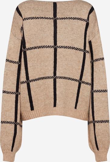 NA-KD Pullover in beige / schwarz, Produktansicht