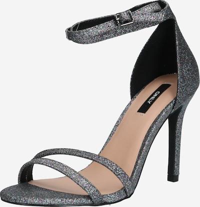ONLY High Heels 'ONLAILA' in dunkelgrau / silber, Produktansicht