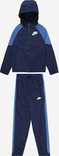 Nike Sportswear Trainingsanzug in navy / hellblau, Produktansicht