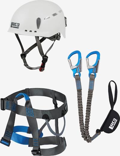 LACD Kletterset 'Via Ferrata E7' in blau / grau / schwarz / weiß, Produktansicht