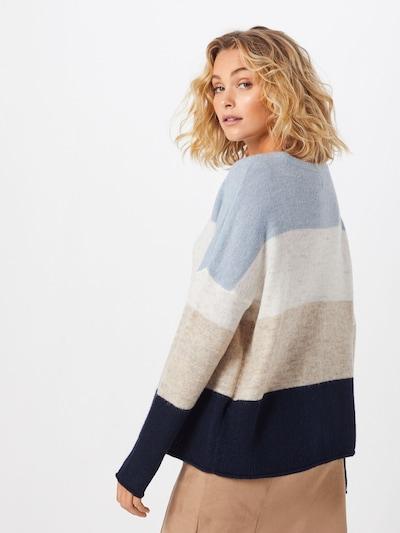 ONLY Sweter 'MIRNA' w kolorze beżowy / jasnoniebieski / białym: Widok od tyłu