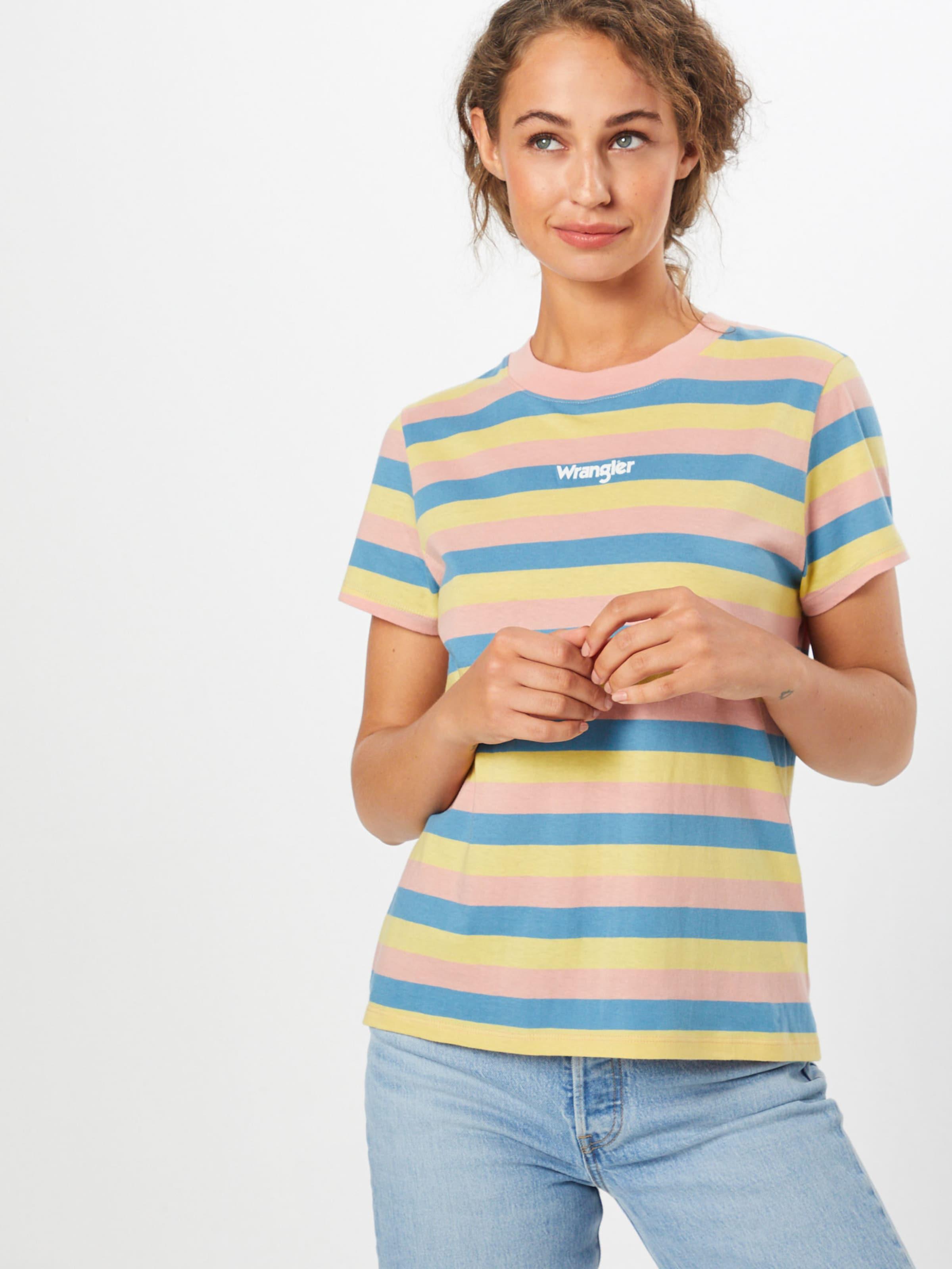 Tee' Bleu 'regular shirt Rib Wrangler En Rose T ClairJaune 76Ybgvfy