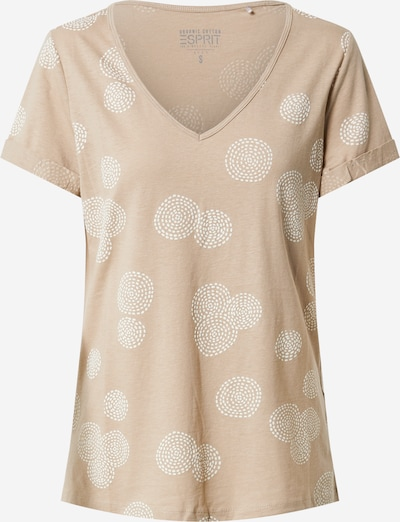 ESPRIT T-shirt 'OCS' en sable / blanc, Vue avec produit