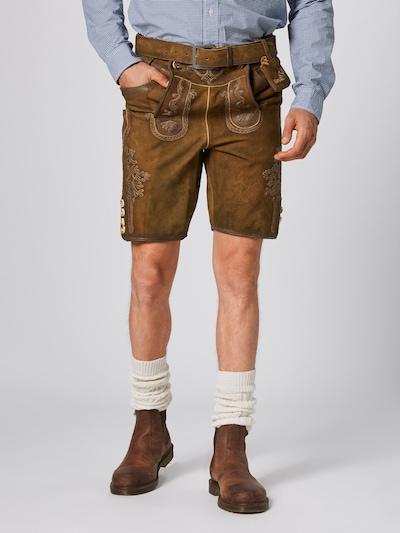 MARJO Pantalon folklorique 'Schorsch' en marron: Vue de face