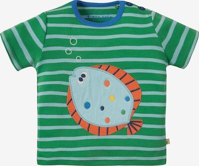 frugi T-Shirt in blau / azur / grün / dunkelorange, Produktansicht