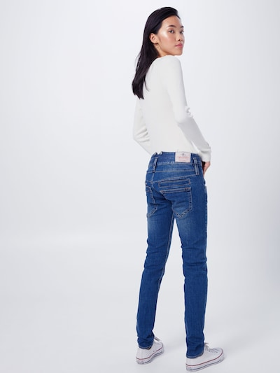 Herrlicher Jeans 'Pitch Slim Denim Stretch' in de kleur Blauw denim: Achteraanzicht