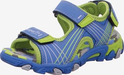 SUPERFIT Sandale 'Henry' in blau / hellgrün, Produktansicht