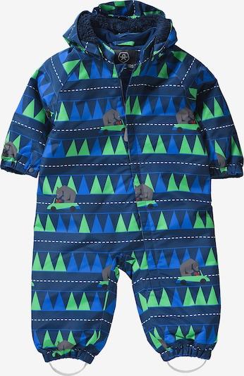 COLOR KIDS Schneeanzug 'Rimah' in blau / dunkelblau / stone / kiwi, Produktansicht