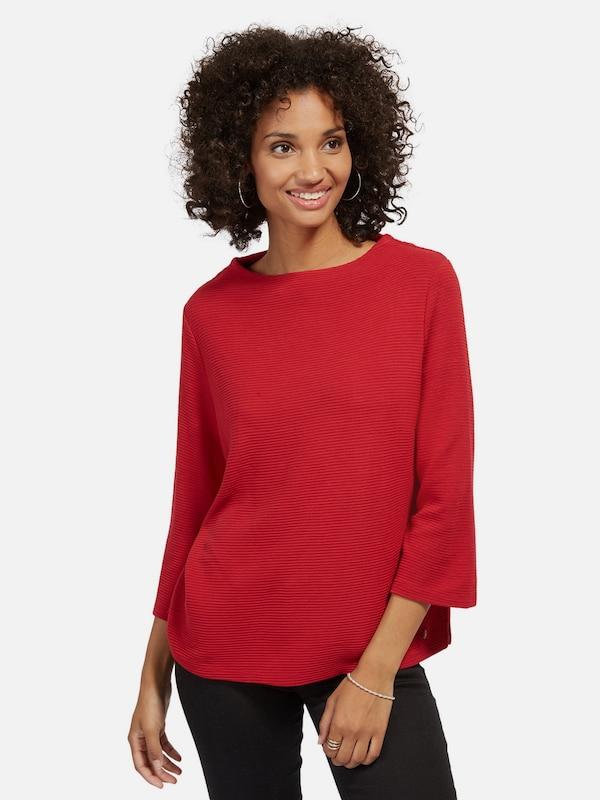 TOM TAILOR Sweatshirt mit Streifen-Struktur