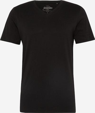 JACK & JONES Tričko 'JJEPLAIN TEE SS V-NECK NOOS' - čierna, Produkt