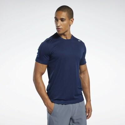 REEBOK T-Shirt in dunkelblau: Frontalansicht