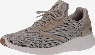 MUSTANG Sneaker in dunkelbeige / greige: Frontalansicht