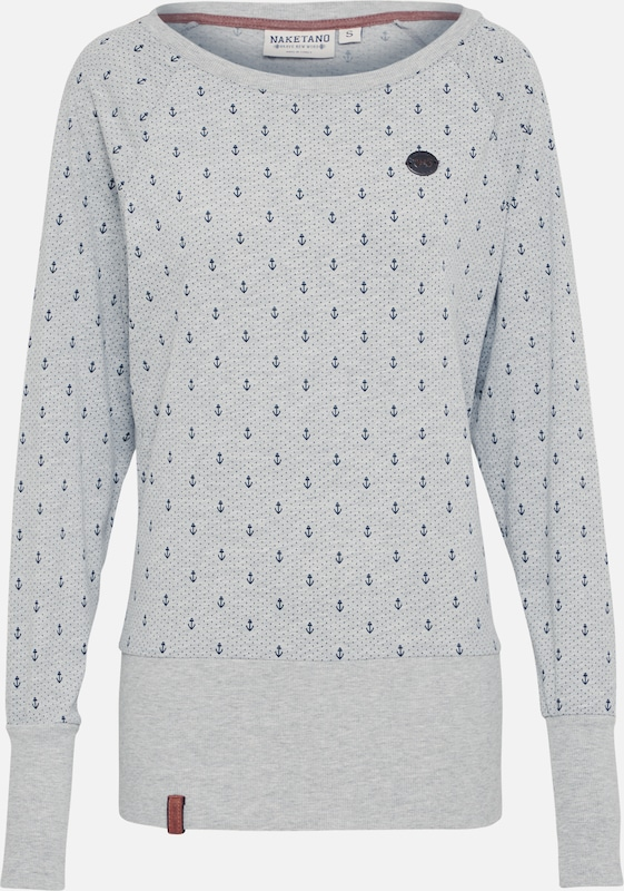 Gris 'anker' Sweat En Naketano shirt Chiné 34AR5jL